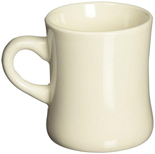 Funny Guy Mugs Diner Ceramic Coffee Mug, Cream, 10 Ounces