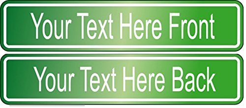6 x 24 Novelty METAL Street Sign DOUBLE SIDED Home Decor Custom Text (Green)