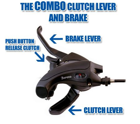 Flying Horse 2-Stroke Motorized Bicycle Combo Brake and Clutch Lever – Gas Bike Brake and Clutch Upgrade