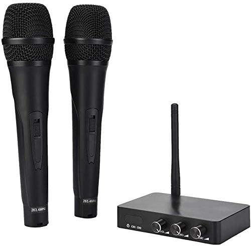 カラオケワイヤレスマイクシステム、ホームパーティーの歌のための2マイクを使ってマシンKTVカラオケシステム