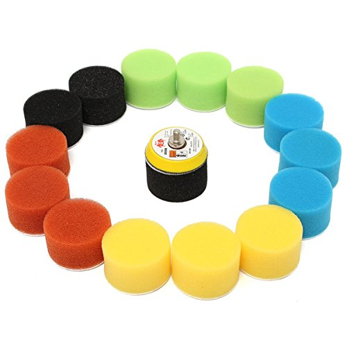 16pcs 2 Inch 50mm Polishing Buffing Pad Kit for Car Polisher by BephaMart