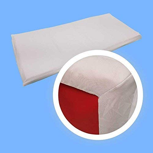 Rollee Pollee Super Soft Microfiber Mat Sheets for Preschool or Daycare, Standard Size 24'' x 48'' x 2'', White (6-Pack)