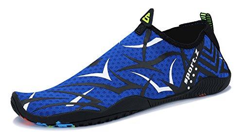 PENGCHENG Water Sports Shoes Men Women Beach Swim Shoes Barefoot Skin Quick-Dry Aqua Socks for Swim Walking Yoga Lake Beach Surf Park Driving Boating