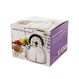 bulk buys OD870 Whistling Stainless Steel Tea Kettle, Regular
