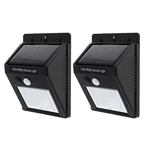 Cheap SecurityIng 20 LEDs Solar Power Wall Light, Waterproof PIR Motion Sensor Security Wireless Outdoor Light for Patio, Deck, Yard, Garden, Driveway, Outside Steps (2 Pack)