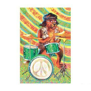 Peace Drum Greeting Cards