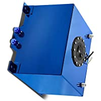 SucceBuy 8 Gallon Fuel Cell Tank Polished With Level Sender And Cap Fuel Cell Gas Tank Blue Aluminum Fuel Cell