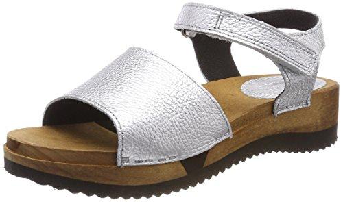 Sanita WoMen Tinna Flex Ankle Strap Sandals Silver (Silver 16)