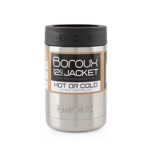 Boroux Insulated Can & Bottle Cooler/Keeper/Jacket. Keeps Ca