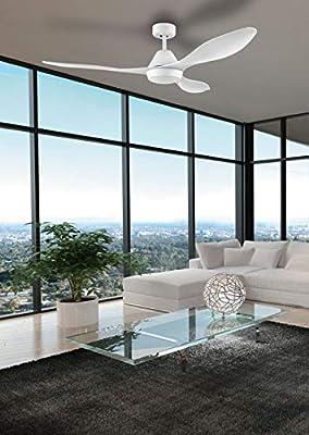 EGLO Ventilador de techo, metal, blanco: Amazon.es: Iluminación