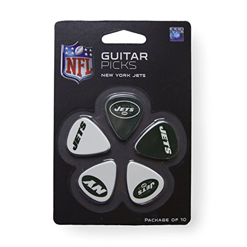 - Woodrow Guitar by The Sports Vault NFL New York Jets Guitar Picks, 10 Pack