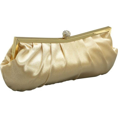 J. Furmani Pleated Satin Clutch (Furmani Satin Clutch)