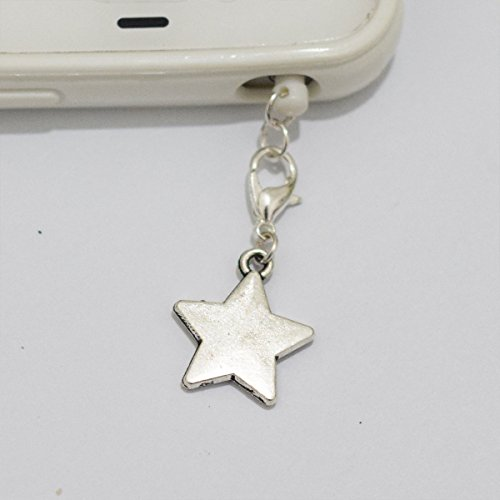 Charm Silver Star Cell Phone Charm, Star Dust Plug-3.5mm, Unique Cell Phone Charm, Headphone Jack Charm ,Silver Phone Charm Dust Plug,charm Dust Plug for Iphone 3,iphone4,iphone 4s ,Iphone 5,iphone 5s,iphone 6, Samsung S3,samsung S4, Samsung S5 ,Note 2,note 3, Ipad 2,ipad 3,ipad 4,ipad 5 Nokia,htc One M7, Ipad Mini Dust Plug (Headphone Jack Charms Iphone6 compare prices)