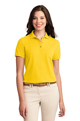 Sunflower Ports (Port Authority L500 Ladies Silk Touch Polo - Sunflower Yellow - 5XL)