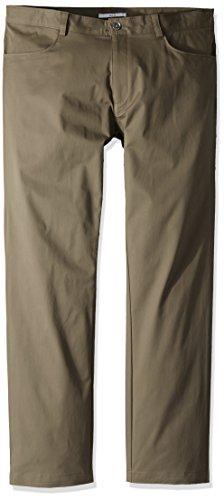 Calvin Klein Men's Slim Fit 4-Pocket Stretch Sateen Pant,Stone Pony,38x30 by Calvin Klein