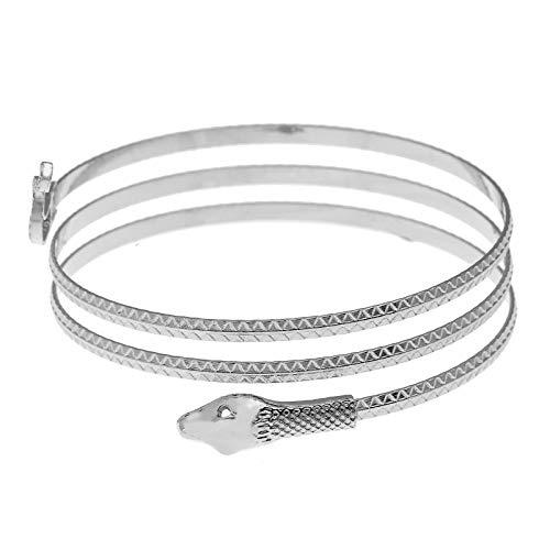 Bracelet Armband Egypt Cleopatra Snake Bangle Upper Arm Charm Swirl Armlet Cuff