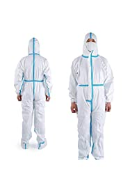 Hazmat Medical/Chemical Protective Coverall Suit with Shoe Cover Type 4/5/6 CE Certified Category III