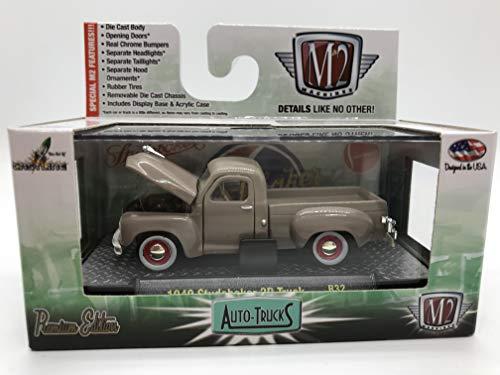 M2 Machines Auto-Trucks 1949 Studebaker 2R Truck R32 15-06 Whitish-Gray Details Like NO Other! Over 42 Parts