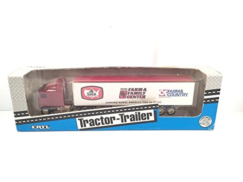 Ertl Central Tractor Trailer Vintage Diecast Metal Farm Family Center Made USA