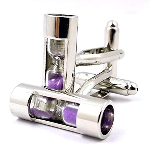 LBFEEL Classic Purple Hourglass Cufflinks for Men