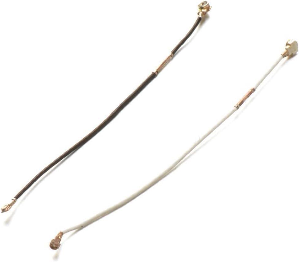 Repuesto Kit Par cables señal Antena Coaxial Conectores Blanco y ...
