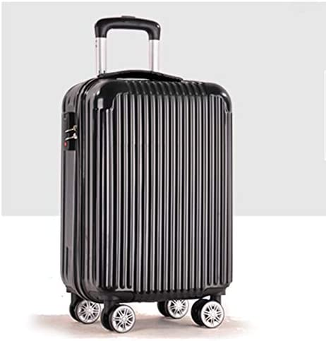 ABS+PC Material,Suitcase Trolley Case Universal Wheel Lock Box Suitcase Color : Black
