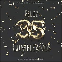 Amazon.com: Feliz 35 Cumpleaños: Libro de visitas con 110 ...