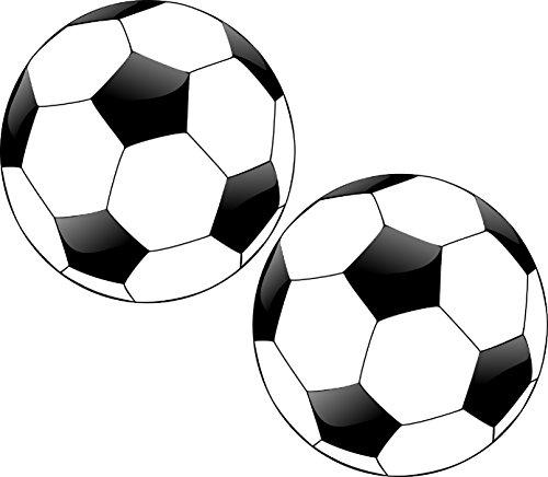 Pack of 2 Best Round Soccer Ball Soccerball Football 5x5 Inch Auto Decal Bumper Sticker Vinyl Decal For Car Truck Van RV SUV Boat Window Locker