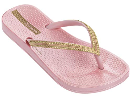Ipanema Ana Metallic III Girls' Flip Flops, Pink/Gold (2 US) -