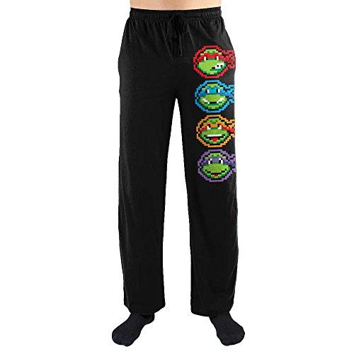 Teenage Mutant Ninja Turtles TMNT Face Print Men's Loungewear Lounge Pants X-Large]()