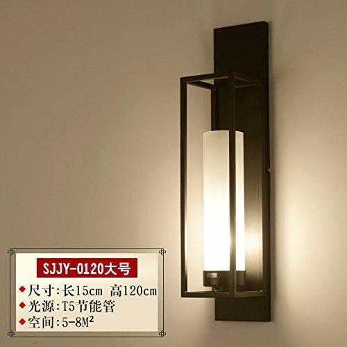 SJUN-Neue Chinesische Mauer Lampe Nachttischlampe Wohnzimmer modernes und einfaches Hotel in der chinesischen Antike Schlafzimmer kreative Gang Wandleuchte,P