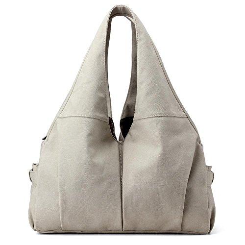 Aoligei Fille de mode de lady sac à main sac étudiant épaule lettre grand sac de toile E