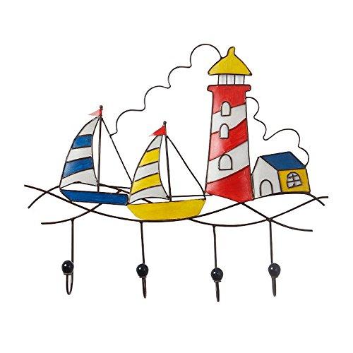 Handmade Boat Sailing Lighthouse Design Iron Hooks Art Home Hooks Porch New Home Decoration Fashion Creative Long Hook