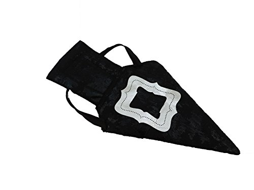 Pair Of Witch Or Wizard Costume Shoe Covers Black With Silver Buckle (Wizard Cover Oz Of Shoe)