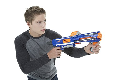 41gSmTGtqYL - Nerf Rampage N-Strike Elite Toy Blaster with 25 Dart Drum Slam Fire and 25 Official Elite Foam Darts For Kids, Teens, and Adults