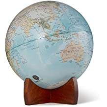 "10"" Pick Up Retro World Globe on Wooden Stand"