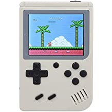 Leless Retro Mini Handheld Video Game Console Gameboy Built-in 500 Classic Games (White)