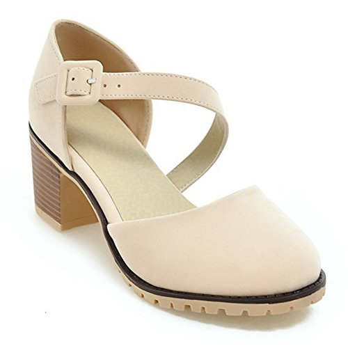 Eclimb Womens Shoe Faux Suede Basic Chunky Mid Heel Ankle Strap Pumps Wtc1Gt