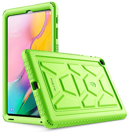 Galaxy Tab A 10.1 2019 Case, Model SM-T510/T515, Poetic Heavy Duty Shockproof Kids Friendly Silicone Case Cover,TurtleSkin Series, for Samsung Galaxy Tab A Tablet 10.1 Inch (2019), Green