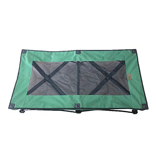 YEPHHO Portable Large Elevated Folding Pet Bed Travel Sleeping Cot 46 Inches Long (Green)
