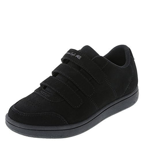 SmartFit Black Boys' Noah Triple-Strap Sneaker 1.5 Regular (Strap Black Triple)