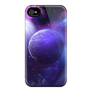 New Style Tpu 4/4s Protective Case Cover/ Iphone Case - 3d Earth