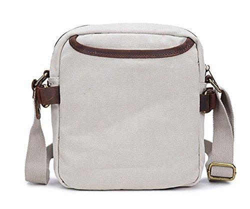 Izacu Flocc-BUG Lona bolso mensajero bolsa para hombre bolso de escuela (22*7*25cm, apricot) apricot
