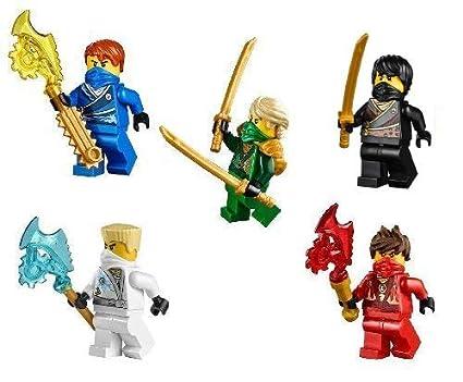LEGO Ninjago Ninjas set of 5 - Lloyd, Cole, Jay, Kai, Zane Techno Robes