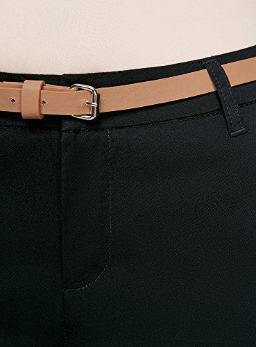 oodji Ultra Mujer Pantalones Chinos con Cinturón Negro (2900N)