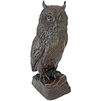Design Toscano Wise Owl Bronze Garden Statue