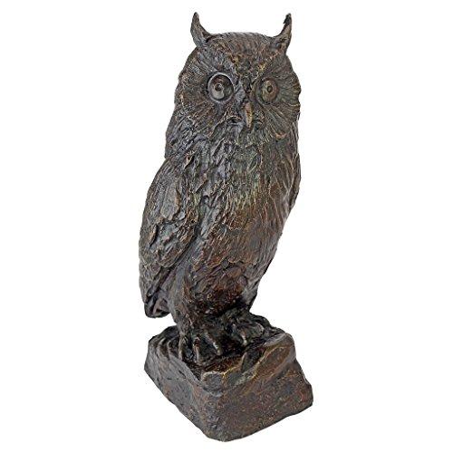 (Design Toscano Wise Owl Bronze Garden Statue)