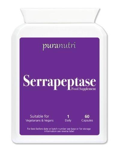 Natural Serrapeptase (recubrimiento entérico)  80,000iu 60 ...