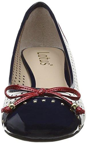 Lotus Elizabeth 50197 - Zapatos de cuña para mujer Blanco (White/Multi)