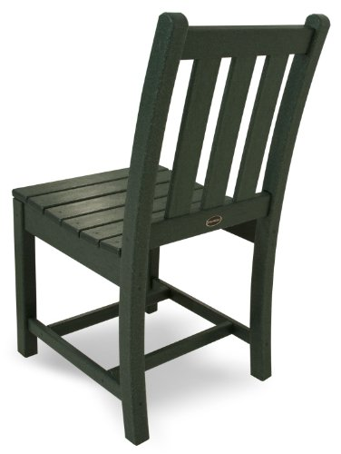 POLYWOOD TGD100GR Traditional Garden Dining Side Chair, Green